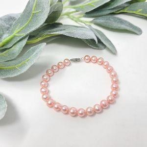 HONORA 14K Pink Cultured Pearl Bracelet